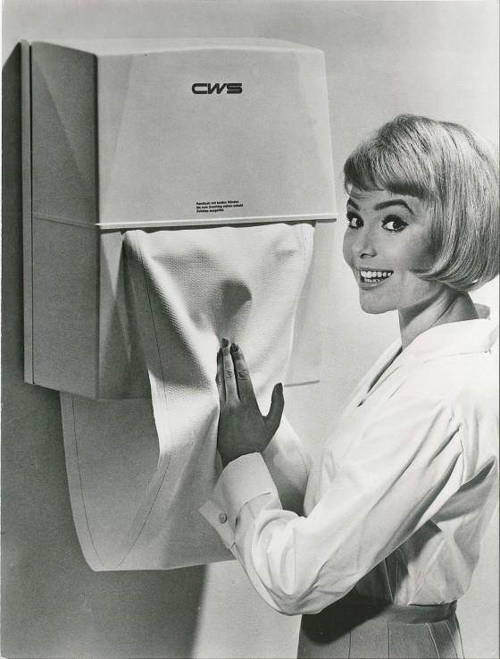 CWS Stoffhandtuchspender in den 60ern