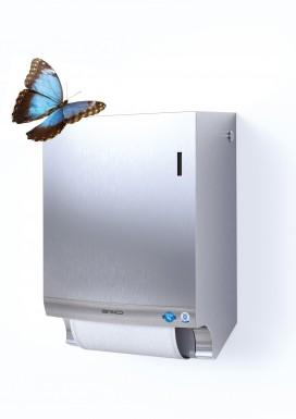 Stainless Steel Stoffhandtuchspender mit Schmetterling