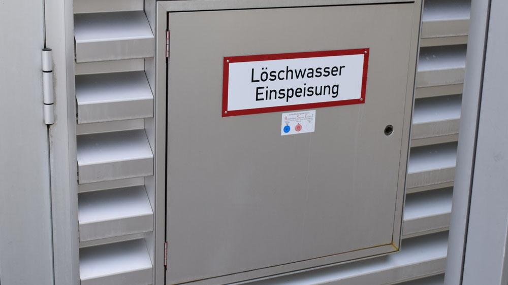 Löschwasserentnahmestelle für den Brandschutz