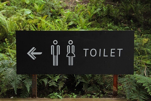 Openbaar toilet bordje