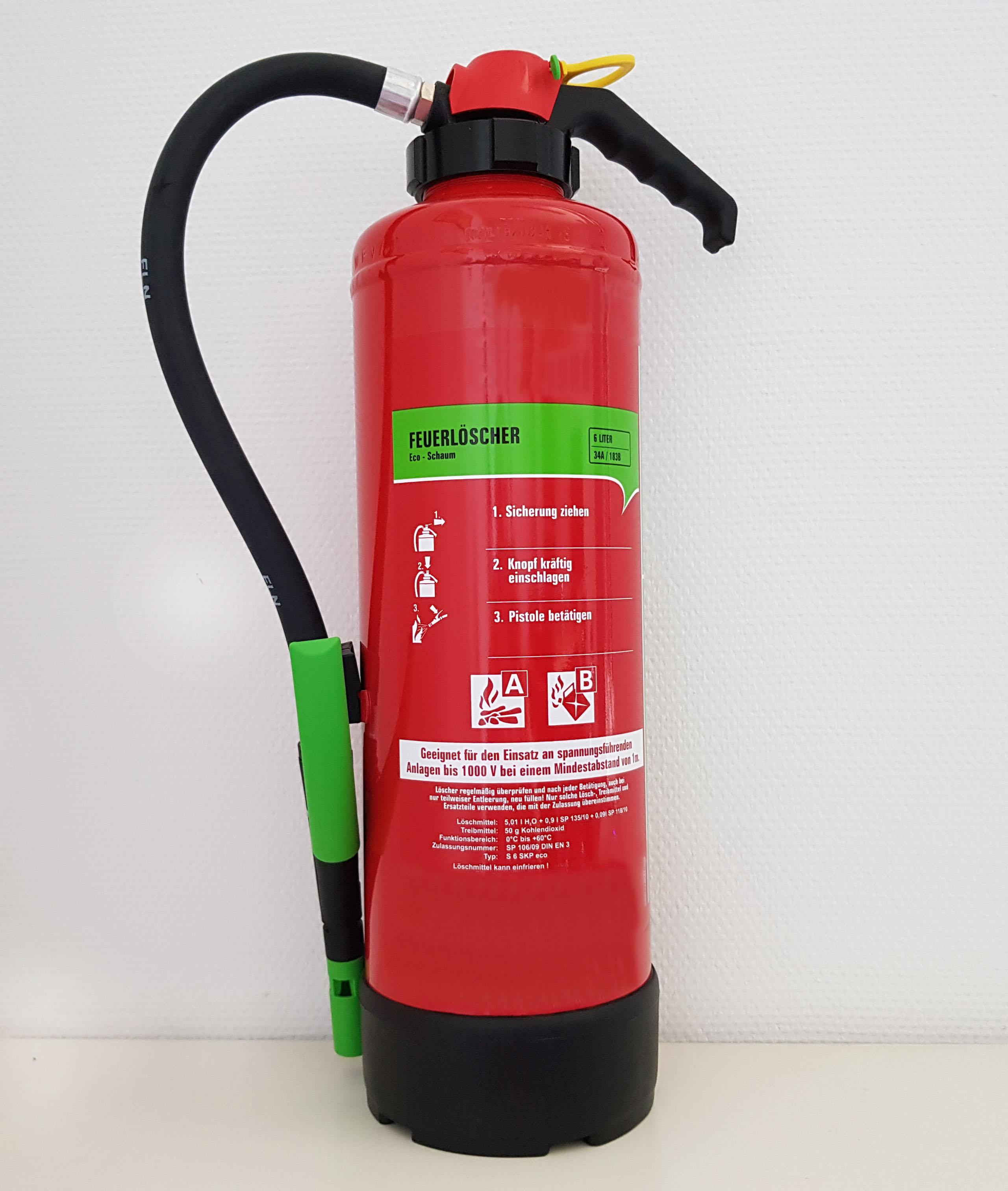 ECO / Green Feuerlöscher Brandschutz CWS Fire Safety