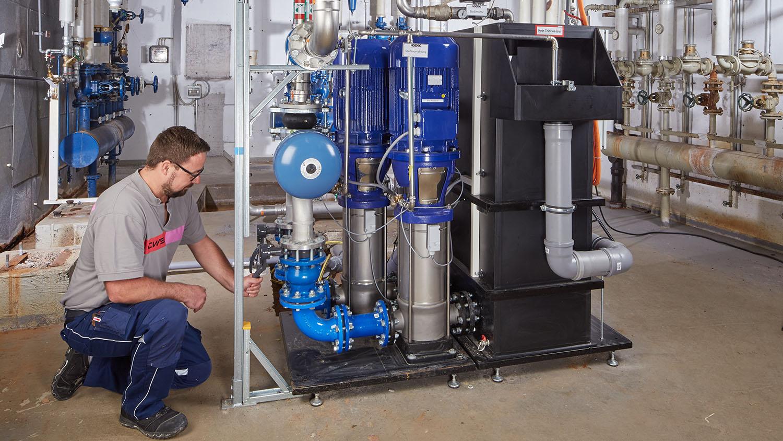 Löschwasseranlage Wartung Brandschutz CWS Fire Safety