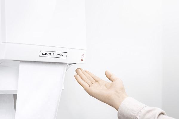 Automatische werking sensor met hand eronder