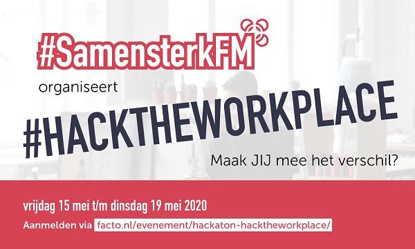 SamensterkFM uitnodiging #hacktheworkplace