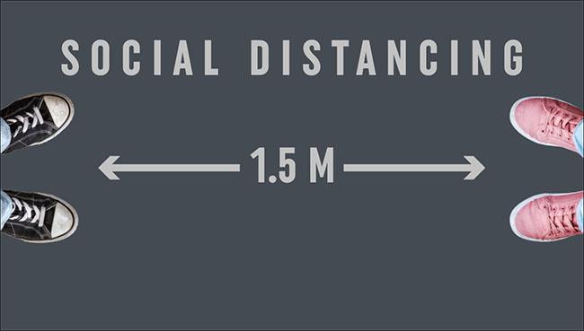 Social distancing mat tegen vuil