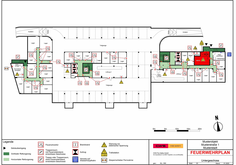 Beispiel eines Feuerwehrplans