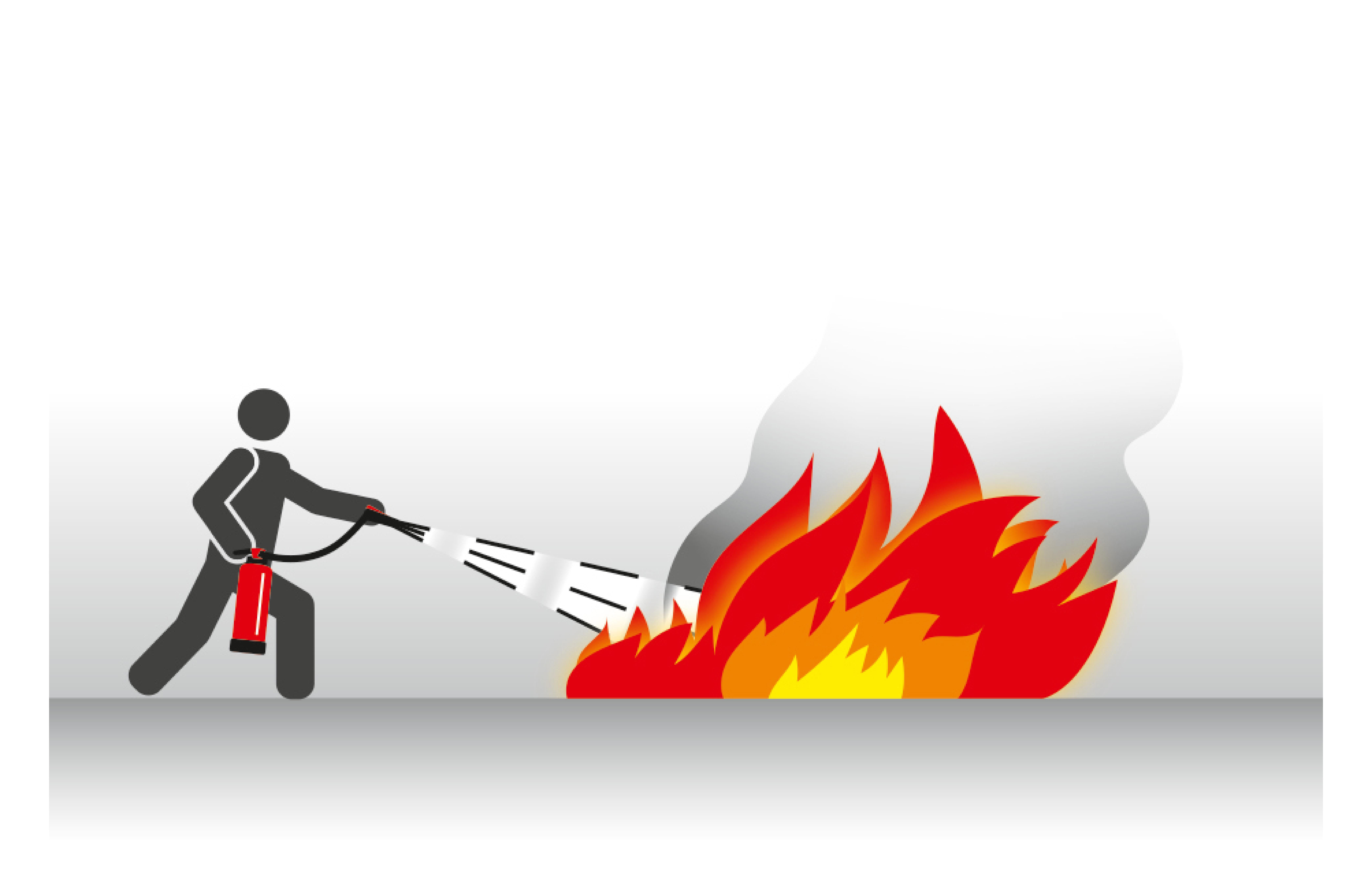 Umgang mit Feuerlöscher Fächenbrand