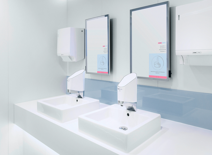 CWS Smart Wash Plus: Digital Mirror with Smart Wash tab