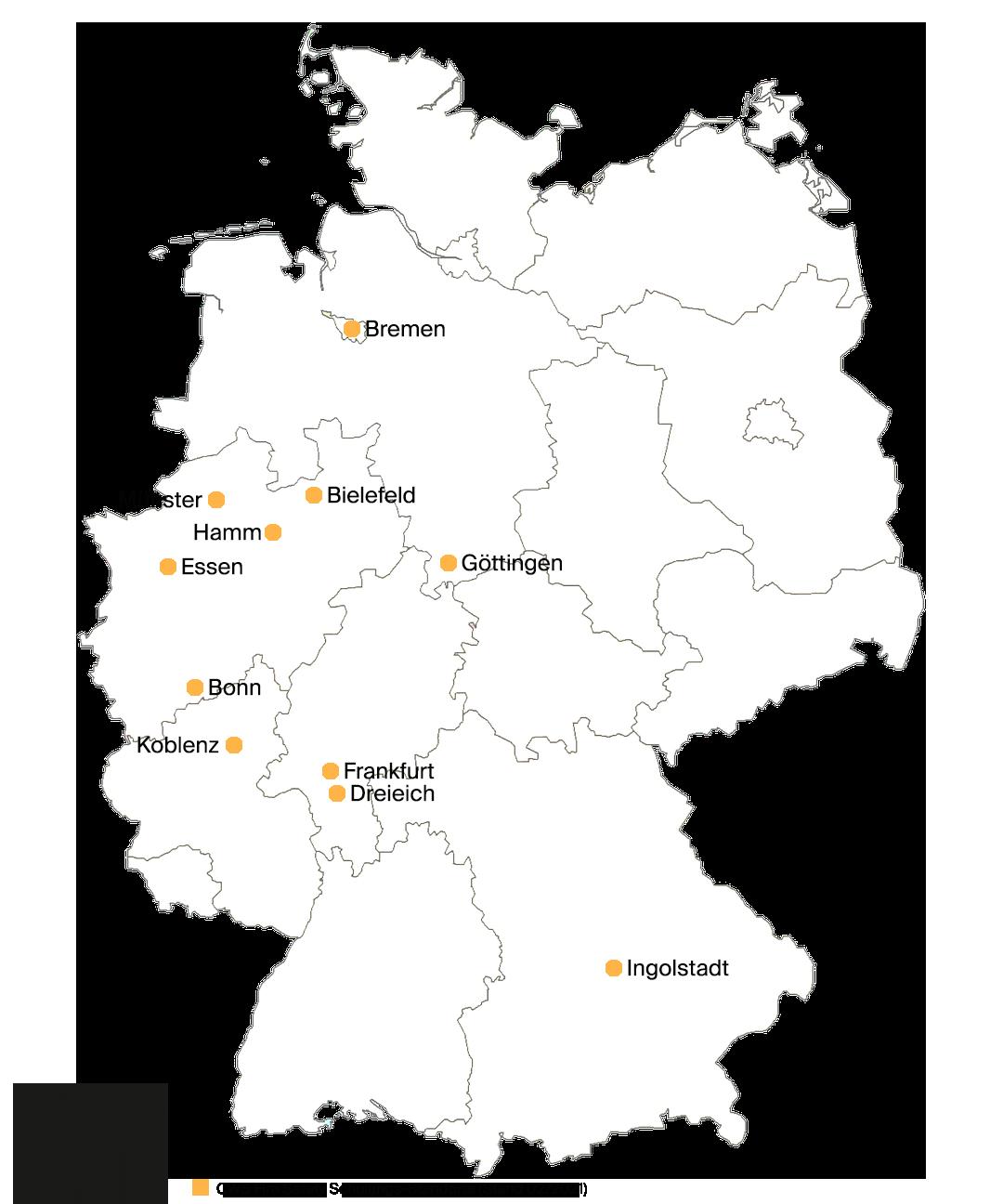 CWS Brandschutz Schulungsorte Deutschland (02/2021)