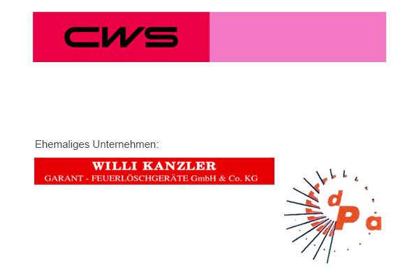 CWS Fire Safety Nürnberg - ehemalige Willi Kanzler Garant Feuerlöschgeräte und Dieter Pecher Alarmanalgen
