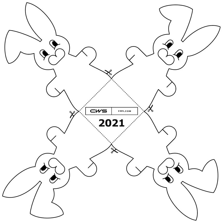 Lapin de Pâques de CWS - 2021