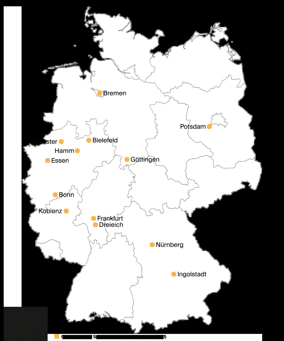 CWS Brandschutz Schulungsorte Deutschland (03/2021)