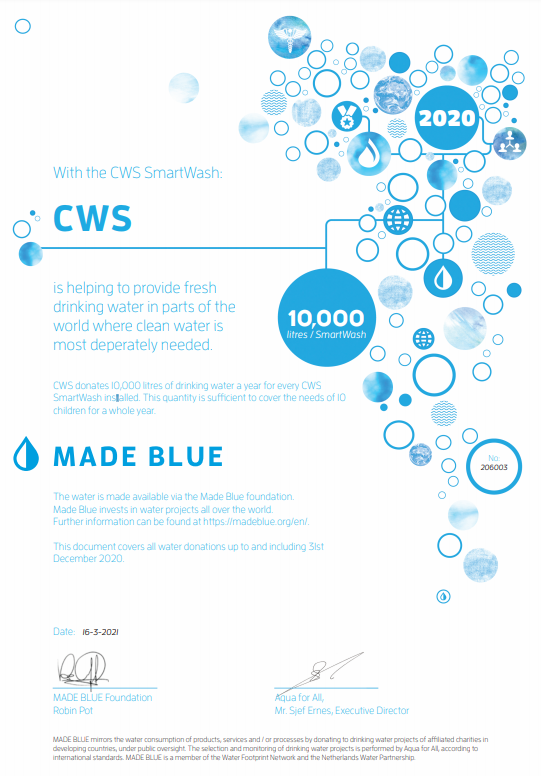 CWS Certificate Made Blue