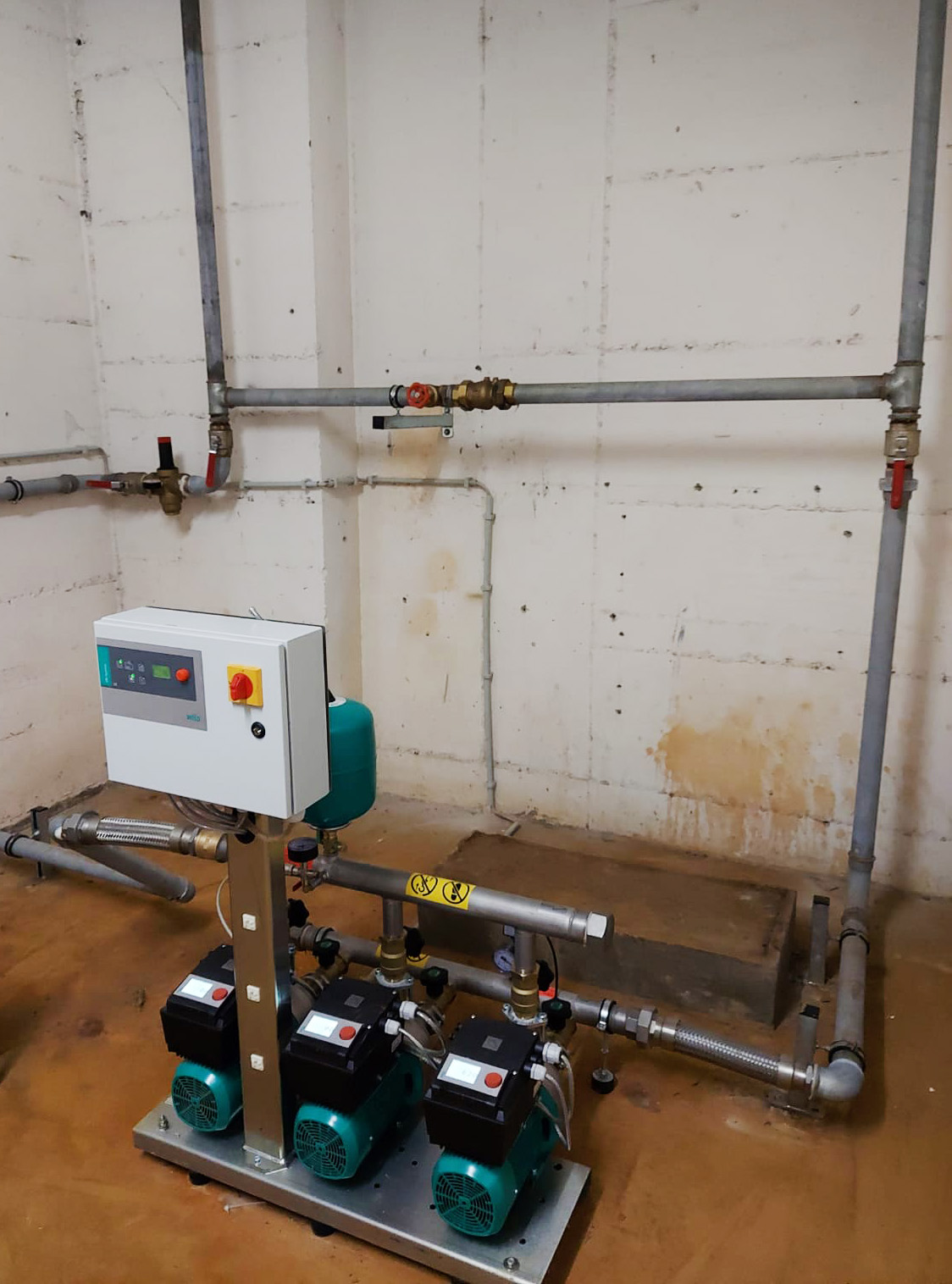 Fehlende Trennstation für Trink- und Löschwasser