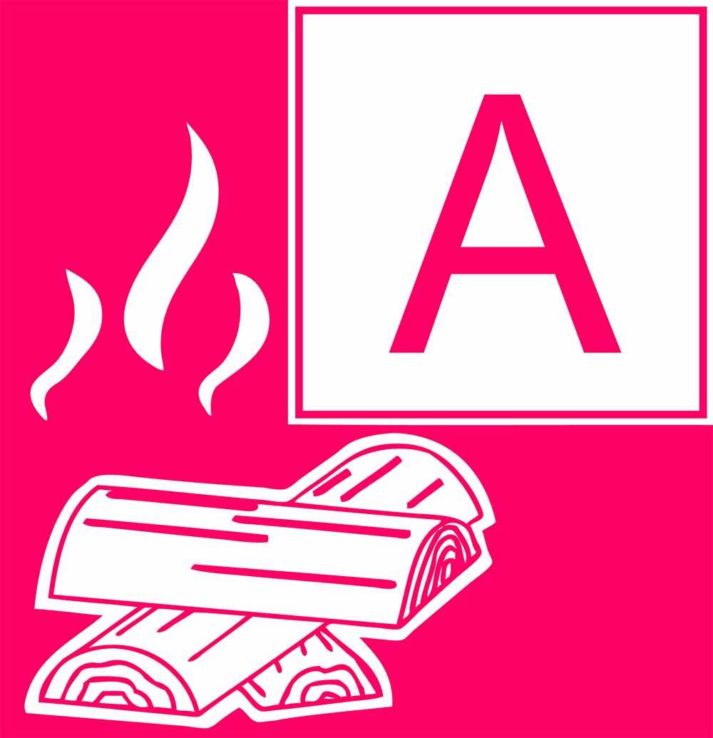 Brandklasse A Feuerlöscher für Brände fester Stoffe