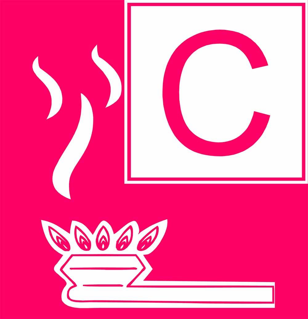 Brandklasse C Feuerlöscher für Brände von Gasen