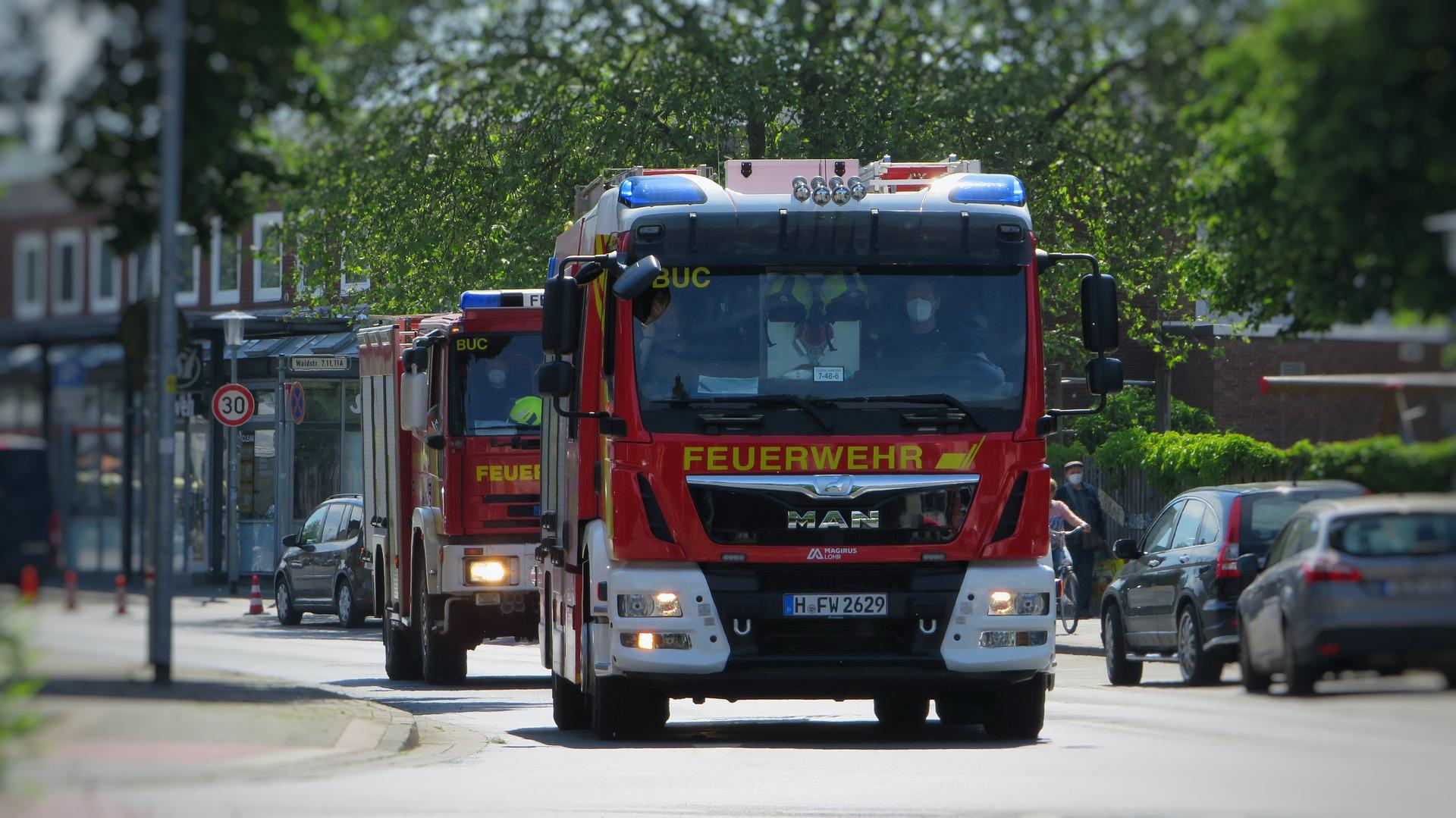 Feuerwehr bei Rauchmlederauslösung