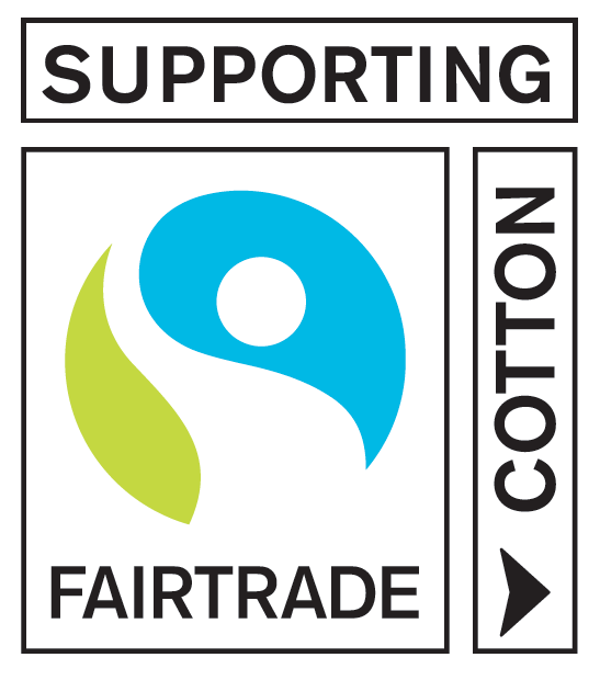 "Fairtrade raw material label ""Supporting Fairtrade Cotton"""