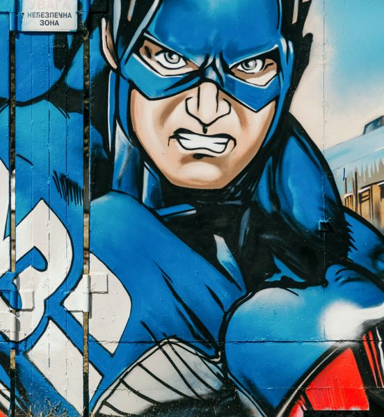 Captain America graffiti