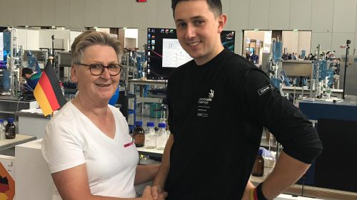 CWS WorldSkills 2019 competitor and supervisor