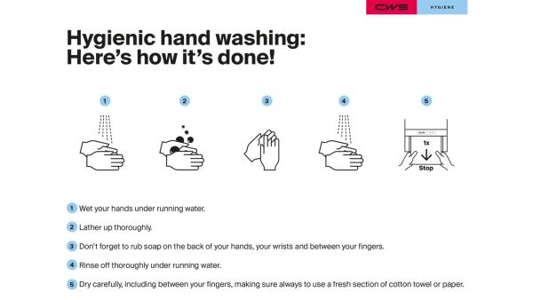 CWS Hygienic hand washing here's how it's done